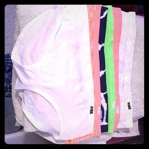 NWT Victoria Secret Pink Hipster Panties Medium